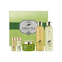 Бьюти-набор Зеленый чай Premium Deoproce Green Tea Essence Moisture Skin Care 3.11 Set