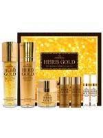 Deoproce - купить Бьюти-набор на основе золота 99,9% Estheroce Herb Gold Whitening And Wrinkle Care Set на Deoprocemarket.ru